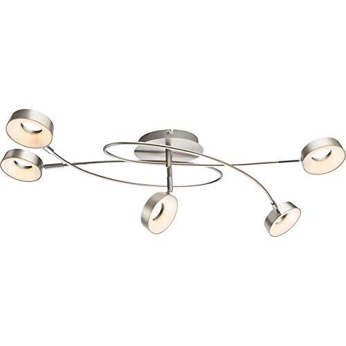 Globo LED-Deckenleuchte Abril, Nickel