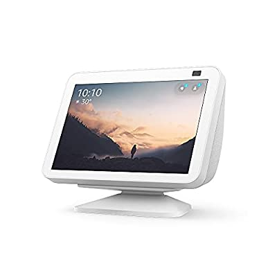 All-new Echo Show 8 (2nd Gen) with Adjustable Stand   Glacier White