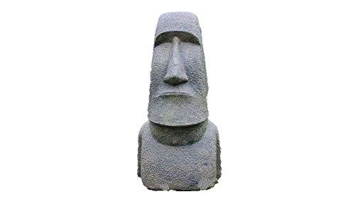 Osterinsel Kopf,61 cm hoch, Osterinselkopf, Hohlguss, Figur aus Steinguss, Frostfest