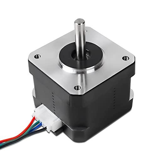 Qooltek 42-34 Motore Passo-passo, 2 Fasi 1A 1,8 Gradi per Stampante 3D Ender3/Ender3Pro/CR-10 e Accessorio CNC.