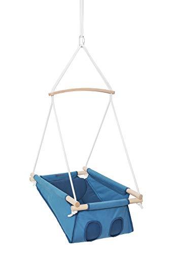 Adamo Hammock Babyschaukel/Hängematte mit Querstange (All Blue)