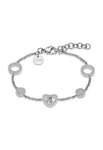 Guido Maria Kretschmer by CHRIST GMK Collection Damen-Armband Edelstahl 112 Zirkonia One Size Silber 32011634