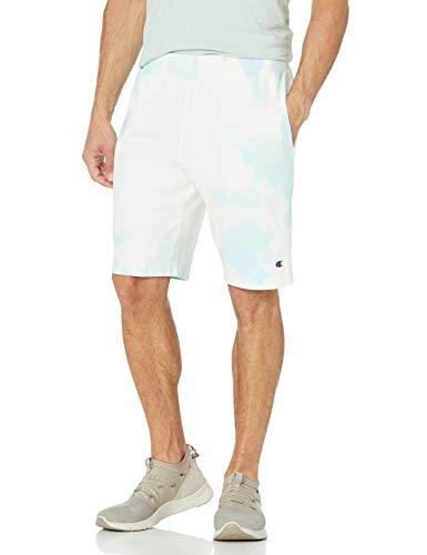 Champion LIFE Men's Jersey Short, Cloud Dye Frost Blue/Iced Green Tea/Light Sea Green, Medium