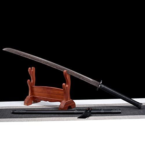 Espada samurái de madera Ewha hecha a mano,con vaina,Katana de madera de juguete para niños,accesorios de práctica de artes marciales Bokken para fiestas temáticas,películas y animación,Halloween