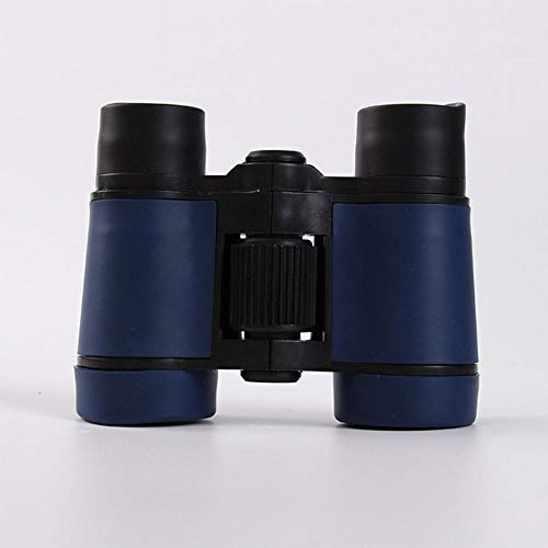 PUJING Goma 4x30 plástico binoculares niños telescopio de Bolsillo Juegos al Aire Libre niños Juguetes Regalos 5 Colores Pueden Elegir-Azul Oscuro