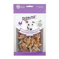 Dokas Hunde Snack Hühnerbrust mit Fisch 70 g - Sie erhalten 8 Packung/en; Packungsinhalt 70 g