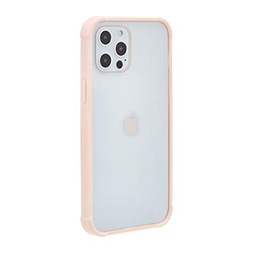 Amazon Basics - Cover per iPhone 12 Pro Max con protezione anti germi, in TPU e policarbonato, colore rosa chiaro