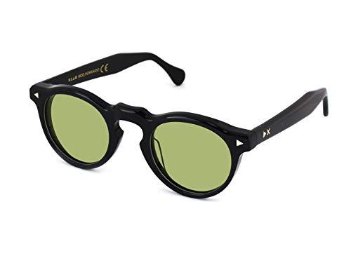 X-LAB Gafas de sol mod. Hokkaido, gafas unisex (Negro, Verde)