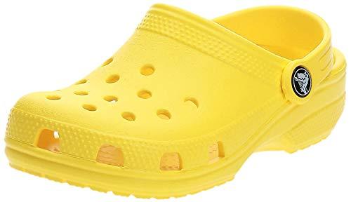 Crocs Classic Clog K, Zuecos Unisex Niños, Lemon, 30/31 EU