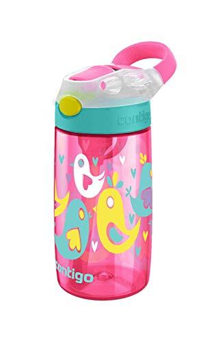Contigo Gourde Enfant Gizmo Flip Autospout, 420ml, Bouteille d'Eau avec Paille Rabattable, Gourde Sport sans BPA, Antifuite, pour l'École et le Sport, Cherry Blossom Pink