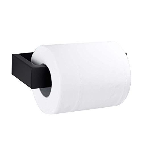 Queta Portarrollos Baño Adhesivo Soporte Papel Higiénico Acero Inoxidable Porta Rollos de Papel Higiénico Negro