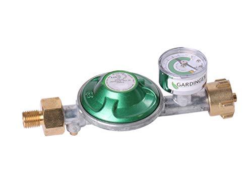GARDINGER Druckregler 50 mbar integrierte Schlauchbruchsicherung mit Druckknopf
