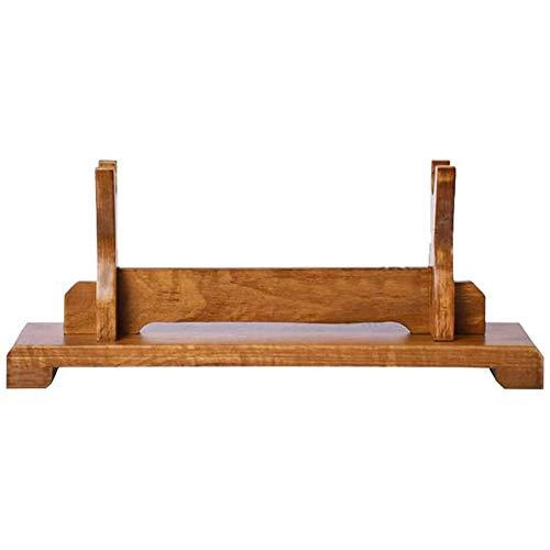 MHUI Supporto per Spada Legno Massiccio di Espositore per la Spada del Samurai Katana Wakizashi e Spade Standard,1 Tier