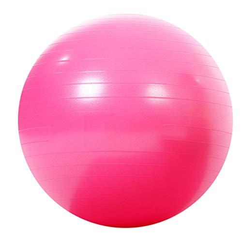 Fitness Bola de Yoga Femenina Engrosamiento a Prueba de explosiones Embarazadas Ejercicio niños Balance de Yoga Diámetro 65 cm,Rosado