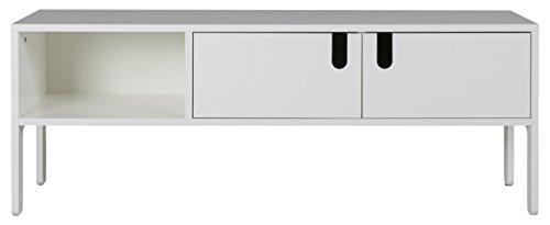 Tenzo 8570-001 UNO Designer Banc TV, MDF + Panneaux de Particules, Blanc, 150 x 40 x 50 cm