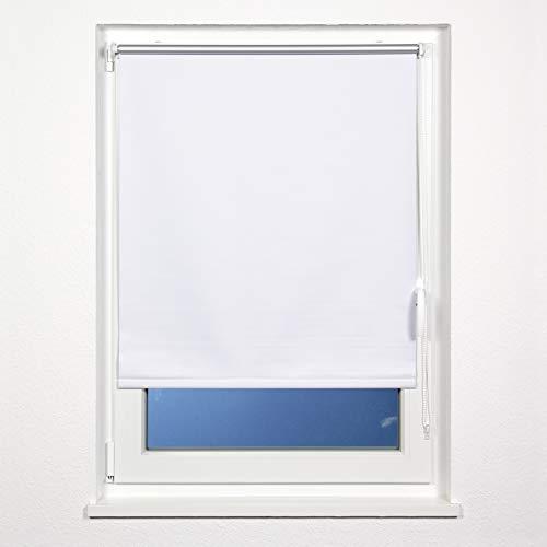 plimotion Fensterrollo ohne Bohren, mit Trägerschiene, 70x160 cm, Weiß