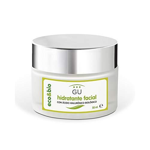 Crema hidratante facial ecológica con ácido hialurónico