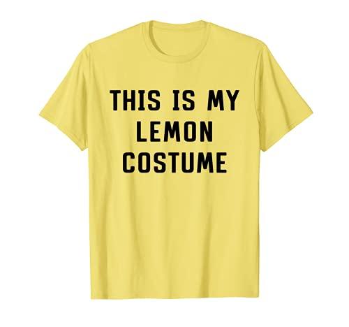 Este es mi disfraz de limn Halloween Cool Lazy Easy Camiseta
