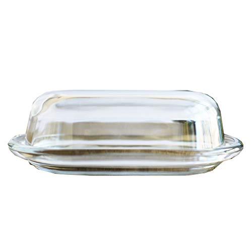 Butterdose Transparente Glasbutterdose, Haushalt Butter Box Käsekuchen Käseschüssel mit Deckel, 7.8in Traditionellen Küchenzubehör butterdose