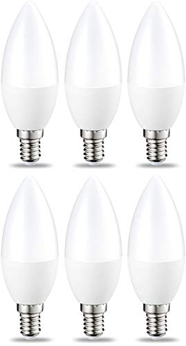 AmazonBasics E14 LED Lampe, Kerzenform, 5.5W (ersetzt 40W), warmweiß, 6er-Pack