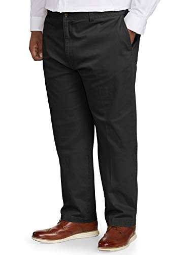 Amazon Essentials Men's Big & Tall Relaxed-fit Casual Stretch Khaki Pant fit by DXL, Black 44W x 28L