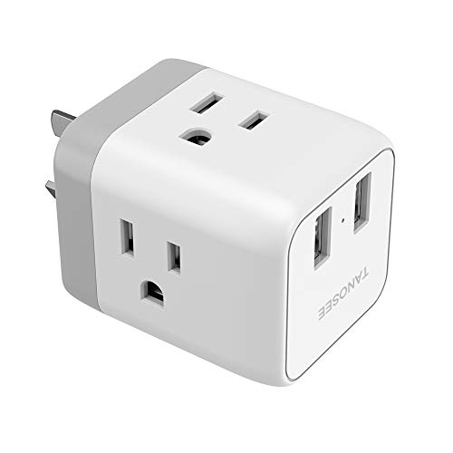 China Australia New Zealand Power Plug Adapter, Tanosee Type I Travel Adaptor with 2 USB Ports 2 American Outlets, US to Australian AU Fiji Argentina Charger Adapter