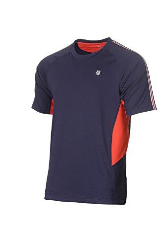 K-Swiss Heritage S/S Camiseta de Tenis, Hombre, Marino, M