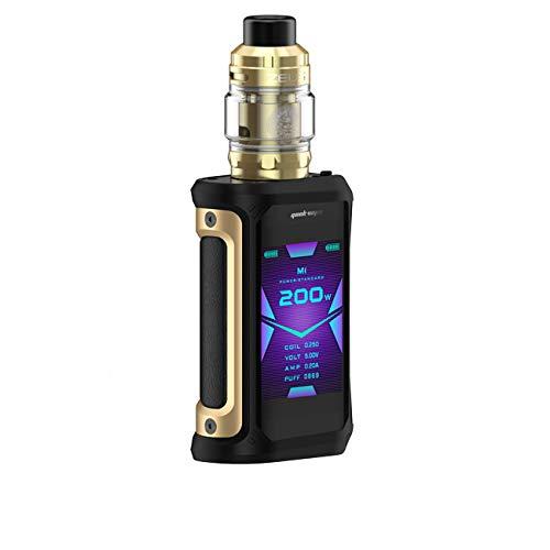 Geekvape Aegis X Zeus Kit  Sigaretta elettronica 200W Box Mod con 5ml Zeus Sub ohm Tank Vaporizzatore VAPE Kit (Nero Oro) senza nicotina