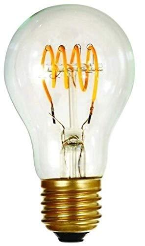 Girard Sudron 716661-LED GLS A60 - Bombilla LED con filamentos en bucle, E27 (ES Edison casquillo de rosca), transparente, blanco muy cálido, 240 lúmenes, regulable, 4 W