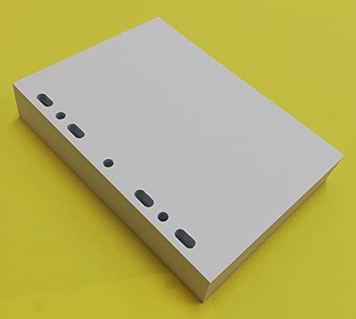 200 Fogli (400 Pagine) Formato carta A5 14,5 x 20,5 cm. Foratura Universale per tutti i tipi di raccoglitore ad anelli in formato A5 - Carta 120G/Mq