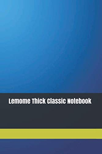 Lemome Thick Classic Noteboo: Lemome Thick Classic Notebook, 110 pages, 6 x 9 inches, Banded, Large, Hardcover Journal Notebook, Elastic Band Closure, Pen Holder, Vegan Leather