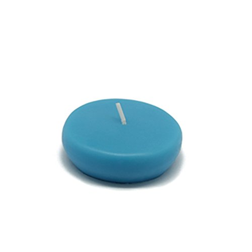 "Zest Candle CFZ-034_12 288-Piece Floating Candle, 2.25"", Turquoise"