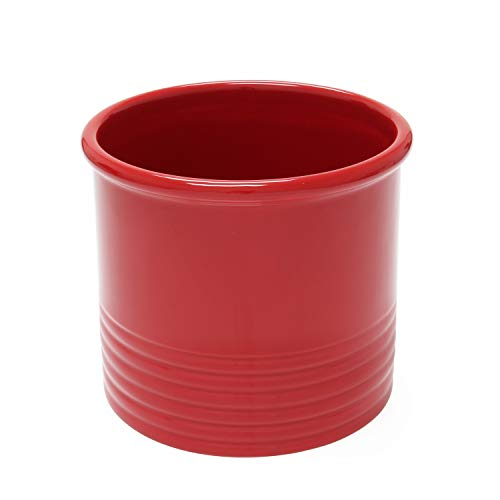 Chantal True Red Ceramic Large Utensil Crock