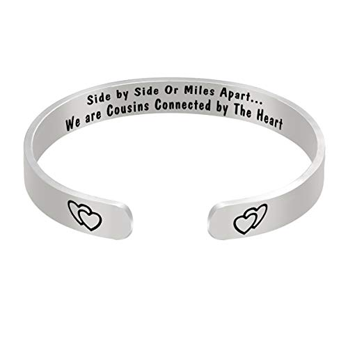 Cousins Gifts Cousin Bangle Jewelry for Cousins Long Distance Relationship Gift for Cousins Birthday Christmas Graduation Gift for Cousin to Cousin Gift Bracelet