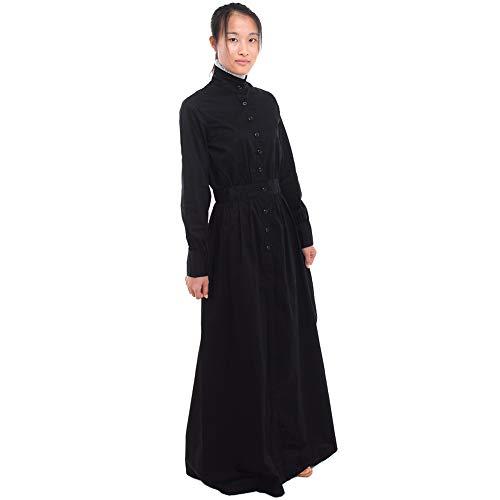 GRACEART Pionero Mujer Disfraz Pradera Vestir (Small, Puro algodn)