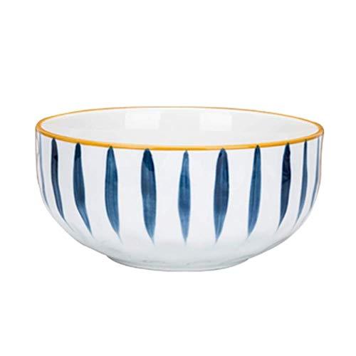 1yess Cerámica Japonesa Cuencos, Cuencos de Porcelana de la Personalidad Creativa Conjunto, de Ensalada de Frutas Cereales Fideos, 4 tamaños (Color: C, Tamaño: 19,8 cm / 8INCH)