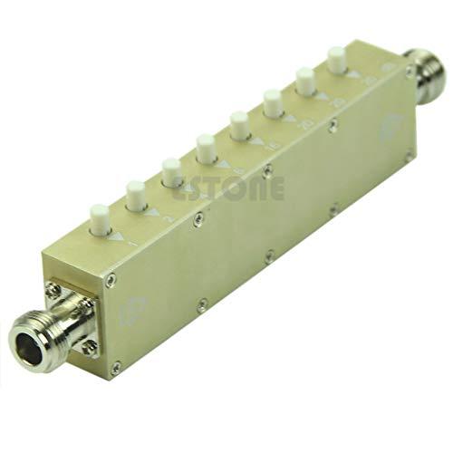 HavanaYZ Verstellbarer Dämpfungsregler N 5 W 0-90 dBi DC-2,5 GHZ 50 Ohm RF Koaxial 8-Key