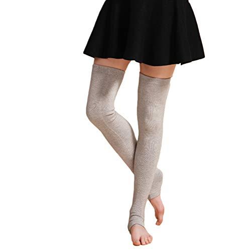 RUIXIB Winter Kaschmir Kniewärmer Stulpen für Beinstulpen Kniestrümpfe Knieschone Extra Lang Gestrickte Warmer Over-Knee Strumpf Beinstulpen für Damen Yoga Tanzen Socken Boot Cover