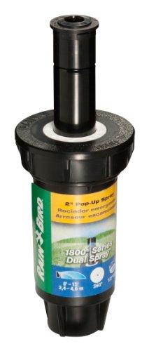 "Rain Bird 1802FDS Professional Dual Spray Pop-Up Sprinkler, 360° Full Circle Pattern, 8' - 15' Spray Distance, 2"" Pop-up Height"