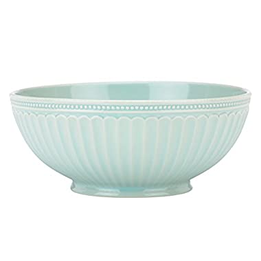 Lenox French Perle Groove Serve Bowl, Ice Blue