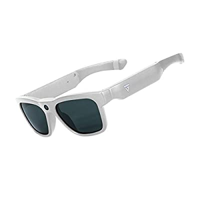 GoVision Royale Ultra High Definition Video Camera Sunglasses | Waterproof Eyeglasses| 8MP Camcorder | Wide Angle View, Unisex Design, Stylish, Water Resistant and Lightweight Frame White from Audy Global Enterprises Inc