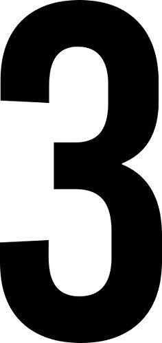 ShirtInStyle Zahlen selbsklebende Aufkleber, von 2-50cm Höhe, Mülltone, Haustür, Basteln, Boote, Nummern, Kennzeichen, Türen, Spint, Umkleide, Hausnummer, Bootsnummer, Zahl 3-4cm, schwarz