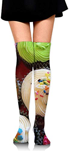 BINBIN WARDROBE Women's Colorful Cake Thigh High Socks Over The Knee High, Elegant Thigh High Socks For Womens