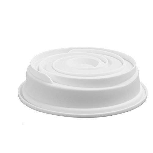 BGREN 17 moules à Mousse en Silicone moules à gâteau Blanc de Forme Multiple 3D moules à Dessert français en Forme de cœur-2