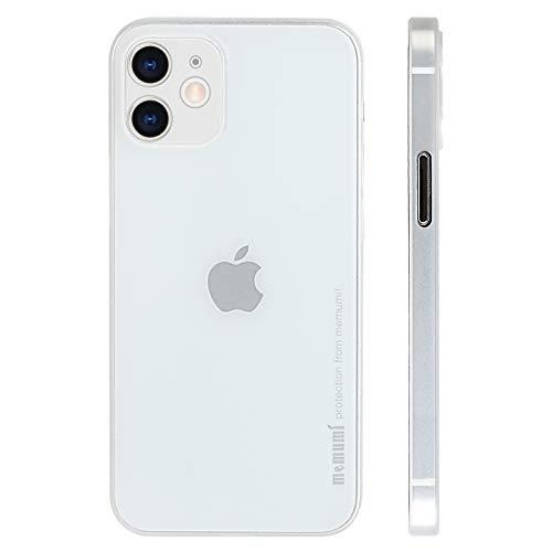 memumi Case per iPhone 12 (Two Camera), Cover per iPhone 12 2020, Materiale PP Slim Custodia 0.3 mm Ultra Sottile Cover, Anti-Graffio e Resistente alle Impronte Digitali Caso, Trans-White(6.1'')