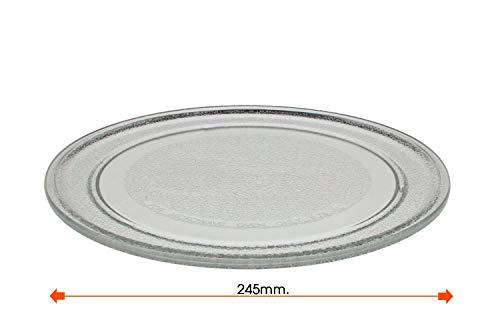 Recamania Universal Mikrowelle-Drehteller-Glasplatte, 245 mm