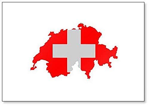 Kühlschrankmagnet, Landkarte und Flagge der Schweiz