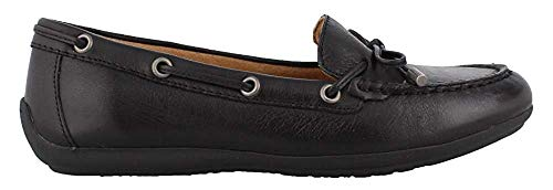 Comfortiva Womens Mindy Leather Closed Toe, Black, Size 6.5
