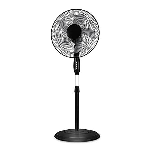 Ventilador de Pedestal Mecánico, Ventilador de Pie de Alta Eficiencia Energética con Altura e Inclinación Ajustables, Temporizador de 2 Horas, 5 Ventiladores para El Dormitorio de La Oficina en Casa