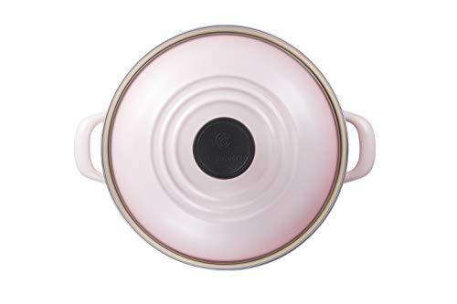 ル・クルーゼ(LeCreuset)ホーロー鍋EOSキャセロール20cmシェルピンクガスIH対応【日本正規販売品】